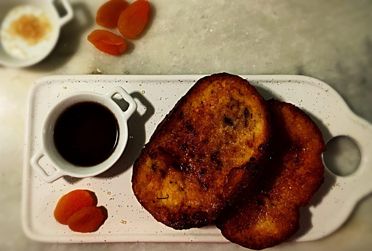French Toast with Honey Syrup