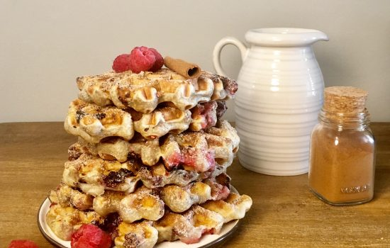 Loaded Wildberry Chocolate Chips Waffles
