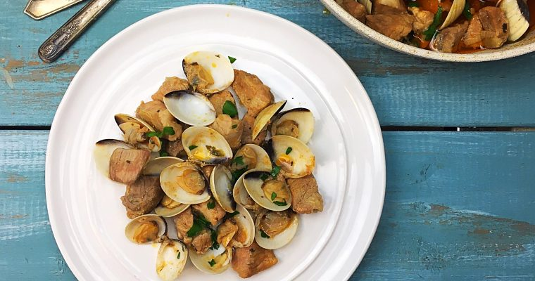 Braised Cubed Pork and Clams | Carne de Porco a Alentejana