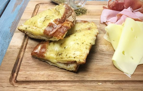Melted Ham and Cheese with Prosciutto | Delicious Tosta Mista