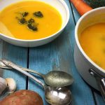 pureed sweet potato butternut squash broccoli soup