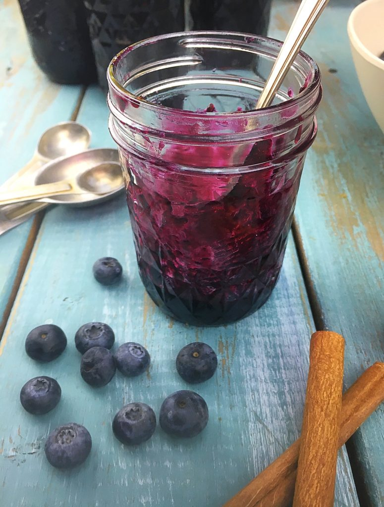 homemade blueberry cinnamon jam